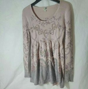 One World small pink long sleeve sweater
